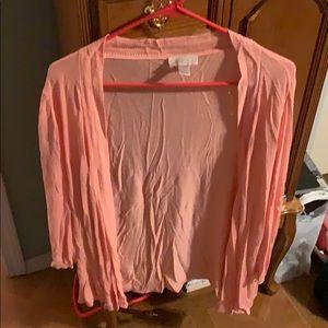 ☀️3/$25☀️ Loft Blush Pink 3/4 Sleeve Cardigan